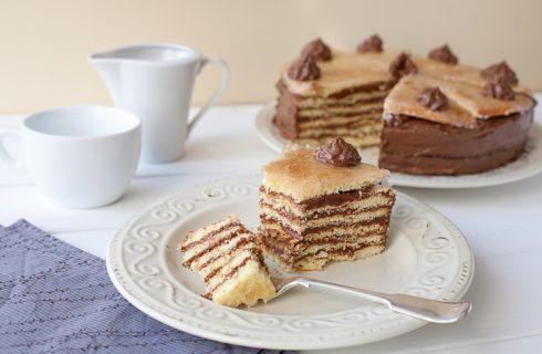 La torta dobos con la ricetta della Prova del Cuoco