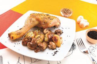 Coscia di pollo agli aromi mediterranei al barbecue