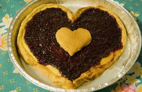 La crostata a forma di cuore per San Valentino