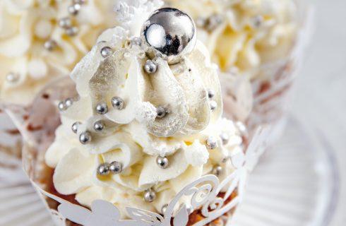 Cupcake fiocco di neve, per le serate tra amici