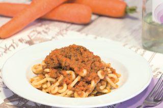 Gramigna al ragù di lenticchie, per l'inverno