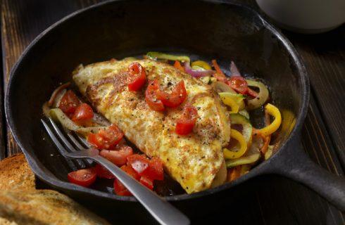 L'omelette con peperone croccante, erba cipollina e parmigiano di Masterchef 8