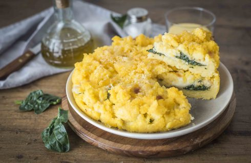 Sbriciolata di polenta, semplice o gustosa