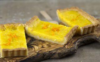 Torta con orange curd, gustosa variante