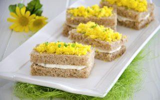 Tramezzini mimosa: per la festa della donna
