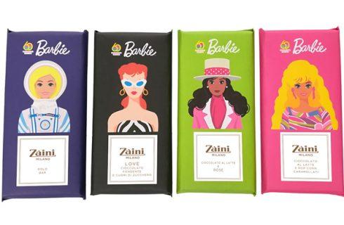 La Barbie più dolce sulle tavolette di cioccolato Zaini