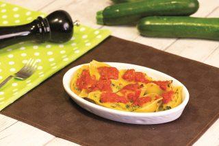 Conchiglioni con patate e zucchine, primo piatto vegetariano