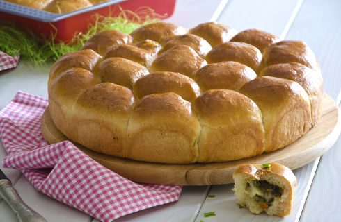 Danubio salato alle verdure: brioche soffice e golosa