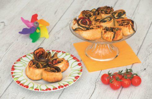 Girelle di pane e melanzane: finger food vegano