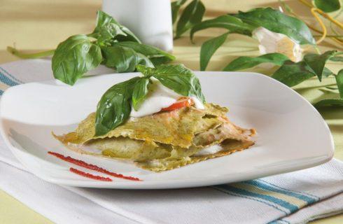 Lasagna caprese al basilico