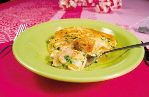 Lasagne di mare all'earl grey