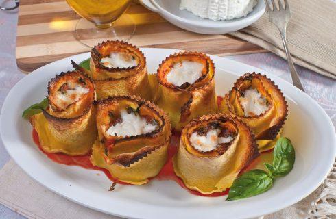 Involtini di lasagne spinaci e ricotta