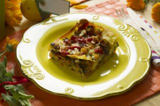 Lasagne vegetariane: peperoni, zucchine e melanzane