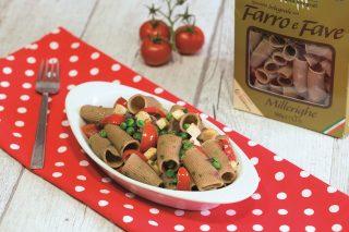 Maccheroni di fave, piselli e tofu: primo piatto vegano