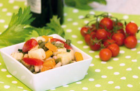 Macedonia di fagiolini, cannellini e patate: contorno vegano