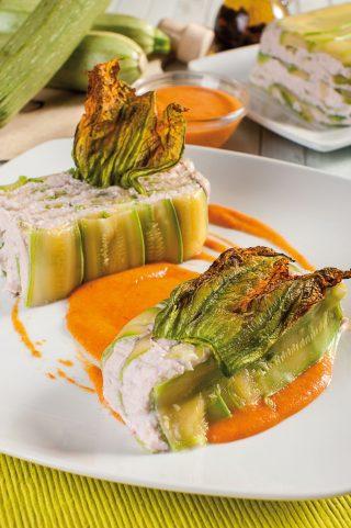 Millefoglie di zucchine e prosciutto