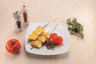 Paccheri con ricotta su coulis di pomodori al barbecue
