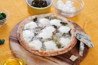 Pizza al gorgonzola DOP piccante e sgrizoi