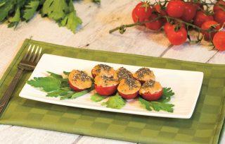 Pomodorini in crema di arachidi, senza cottura