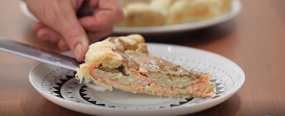 Quiche al salmone e pistacchi: la video ricetta