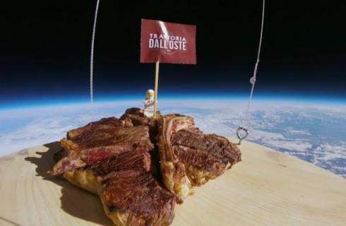 Fiorenza, la prima bistecca nello spazio