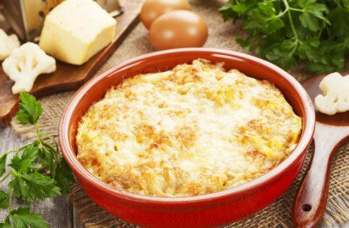Frittata di cavolfiore al forno, la ricetta leggera