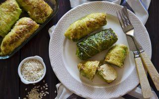 Involtini di verza e riso: per cena