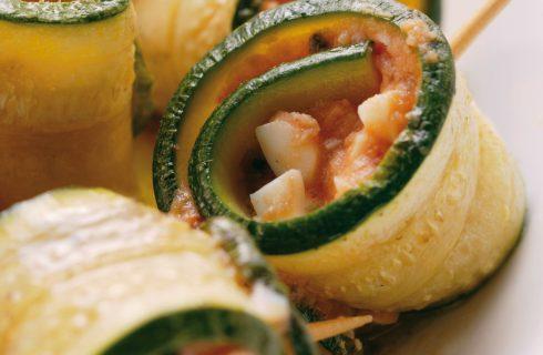 Rotoli di zucchine con mozzarella e pomodoro al bimby