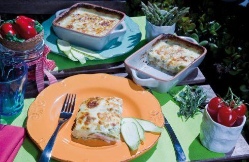 Parmigiana di zucchine e prosciutto cotto