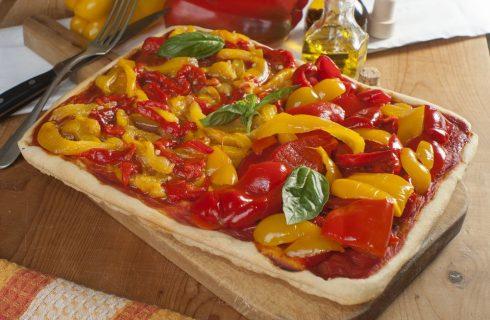 Pizza al farro con peperoni