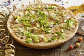 Pizza gorgonzola dolce e sedano