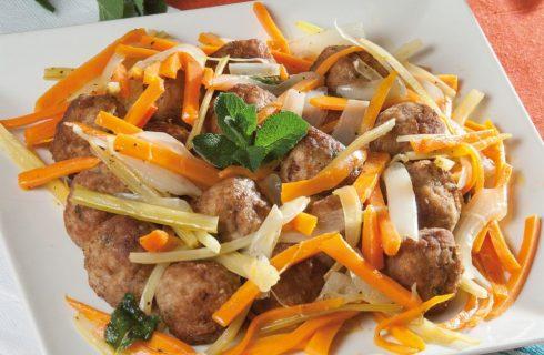 Polpette con verdure in carpione