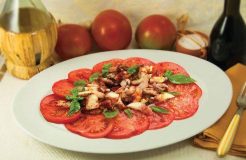 Polpo alla gallega con pomodori