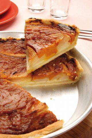 Quiche con patate e crema di zucca al bimby