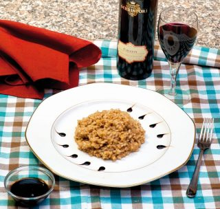 Risotto all'aceto balsamico
