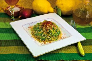 Risotto zucchine e paprika