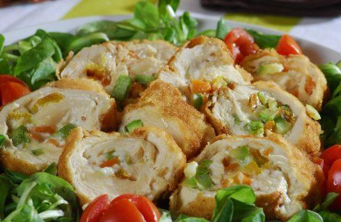 Rollatine di pollo con verdure