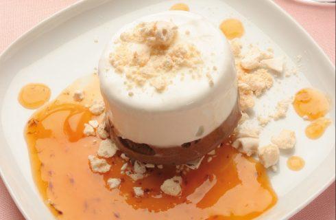 Semifreddo ai due cioccolati con meringa e gelatina di caco al bimby
