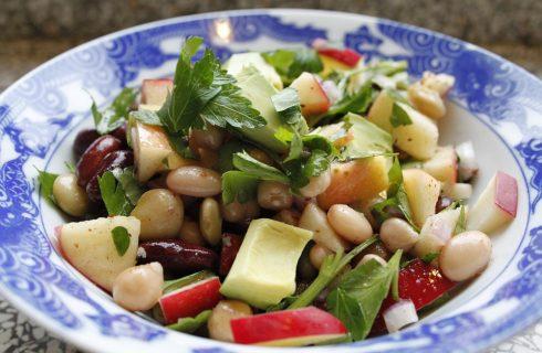 Ricette light, insalata con fagioli cannellini