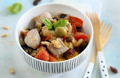 Caponata al tonno fresco: variante della classica ricetta siciliana