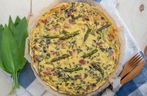 La ricetta della quiche asparagi e pancetta