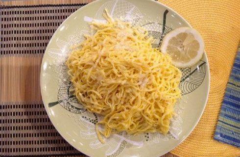 Tagliolini al limone, la ricetta di Anna Moroni