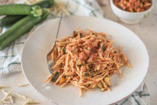 Trofie con sugo di zucchine: primo piatto primaverile