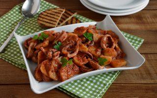 Totani con patate: secondo piatto di mare e terra