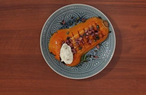 Zucca butternut arrostita al forno: benvenuto autunno