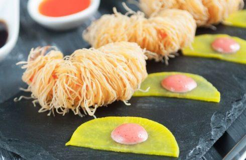La ricetta dei gamberoni in pasta kataifi