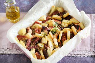 Polpo arrosto con patate: secondo piatto completo
