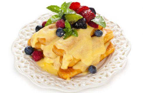 La ricetta del tiramisù alla frutta con crema pasticcera