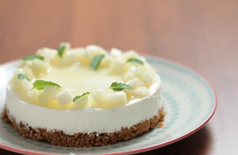 Cheesecake al melone bianco: fresca per la merenda