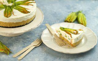 Cheesecake salata ai fiori di zucca: antipasto fresco